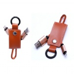 leather USB cable