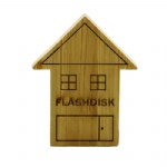 wooden house USB stick